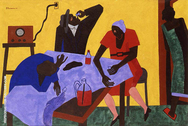 You Can Buy Bootleg Whiskey for Twenty Five Cents a Quart 1943 By Jacob Lawrence