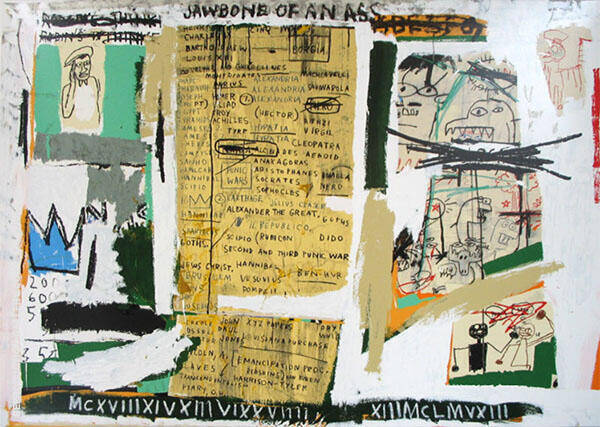 Jawbone of an Ass By Jean-Michel-Basquiat