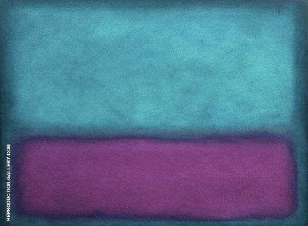 Purple and Aqua Landscape Painting By Mark Rothko (Inspired By)