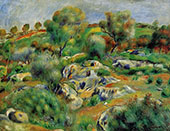 Breton Landscape By Pierre Auguste Renoir