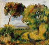 Breton Landscape Trees and Moor 1892 By Pierre Auguste Renoir