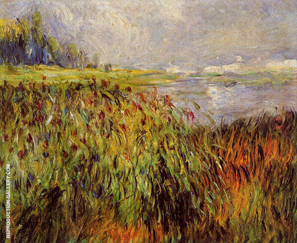 Bulrushes on The Banks of The Seine 1874 By Pierre Auguste Renoir