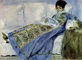 Camille Monet Reading 1872 By Pierre Auguste Renoir