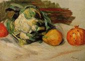 Cauliflower and Pomegranates 1890 By Pierre Auguste Renoir