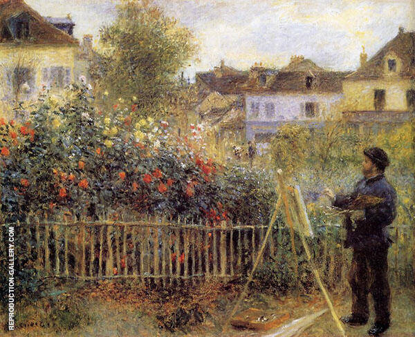 Claude Monet Painting in His Garden at Argenteuil 1873 By Pierre Auguste Renoir