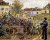 Claude Monet Painting in His Garden at Argenteuil 1873 By Pierre Auguste Renoir