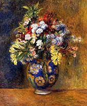 Flowers in a Vase 1878 By Pierre Auguste Renoir