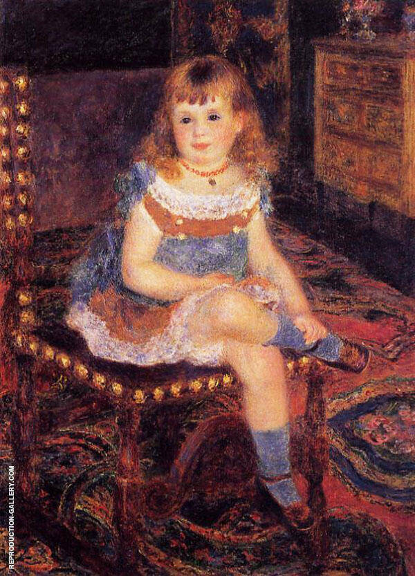 Georgette Charpeitier Seated 1876 By Pierre Auguste Renoir