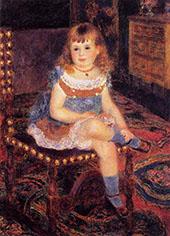 Georgette Charpeitier Seated 1876 By Pierre Auguste Renoir