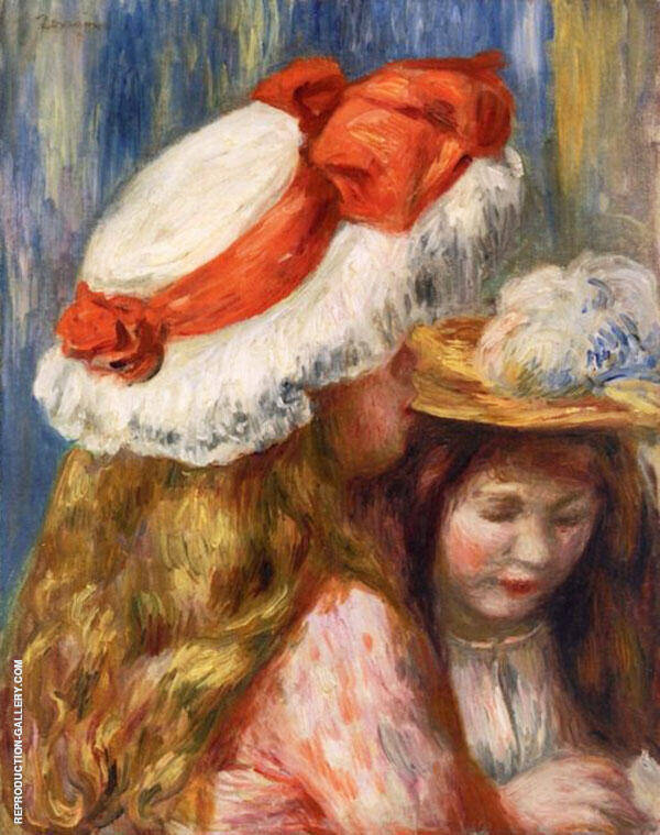 Girls with Hats By Pierre Auguste Renoir