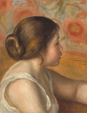 Head of a Young Girl c1890 By Pierre Auguste Renoir