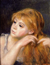 Head of a Young Woman 1890 By Pierre Auguste Renoir