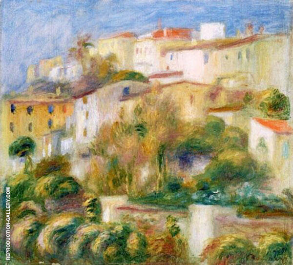 Houses on a Hill By Pierre Auguste Renoir