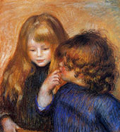 Jean and Coco The Artists Sons 1902 By Pierre Auguste Renoir