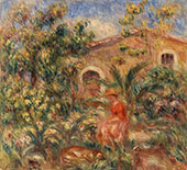 Landscape with Woman and Dog By Pierre Auguste Renoir