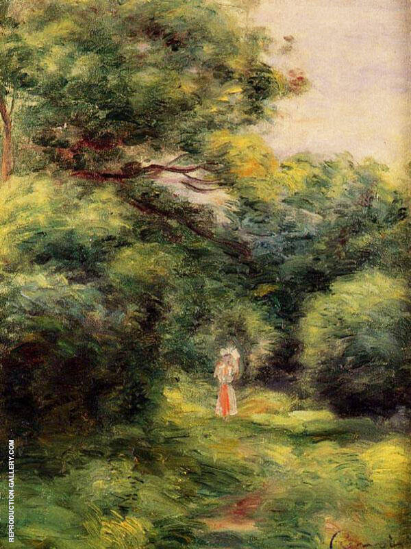 Lane in The Woods Woman with a Child in Her Arms 1900 By Pierre Auguste Renoir