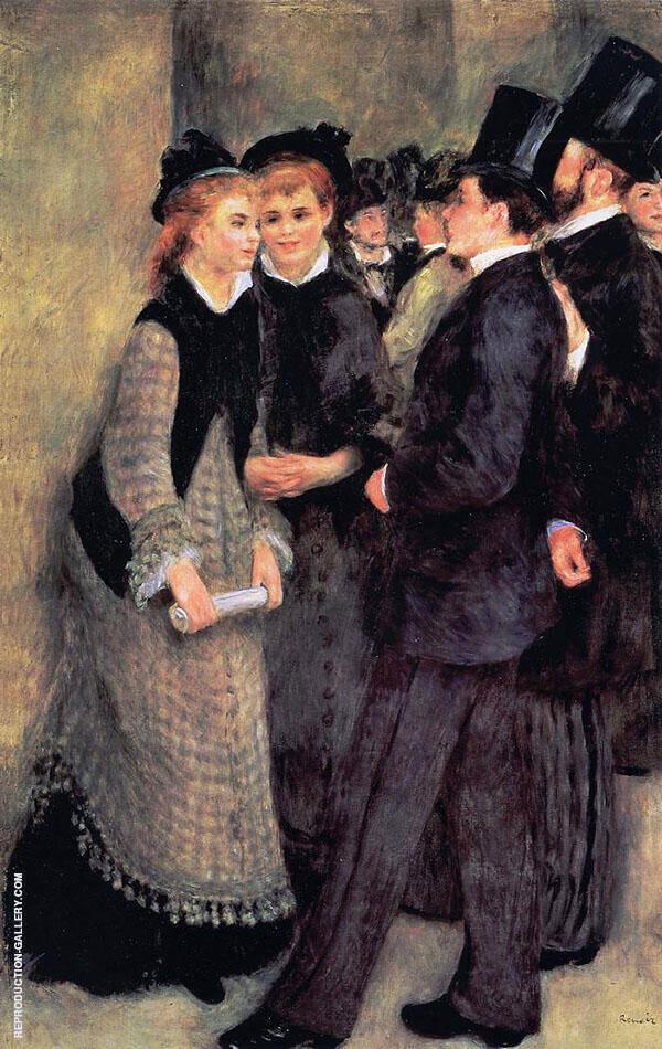 Leaving The Conservatoire 1877 By Pierre Auguste Renoir