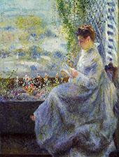 Madame Chocquet Reading 1876 By Pierre Auguste Renoir