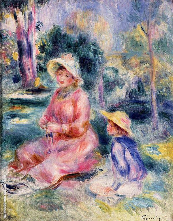 Madame Renoir and Her Son Pierre 1890 By Pierre Auguste Renoir