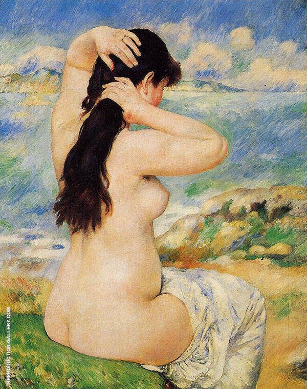 Nude Fixing Her Hair 1885 By Pierre Auguste Renoir