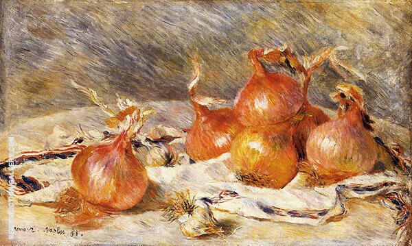 Onions 1881 By Pierre Auguste Renoir