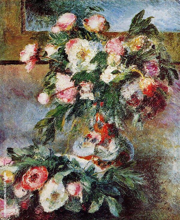 Peonies 1878 By Pierre Auguste Renoir