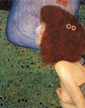 Girl with the Blue Veil 1903 By Gustav Klimt