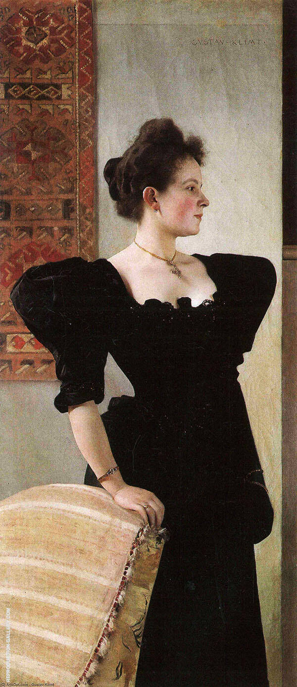 Portrait of Marie Breunig 1894 By Gustav Klimt