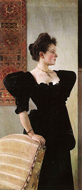 Portrait of Marie Breunig 1894 By Gustav Klimt