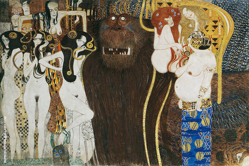 Forces of Evil 1902 By Gustav Klimt