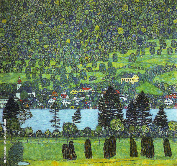 Mountain Slope at Unterach 1916 By Gustav Klimt