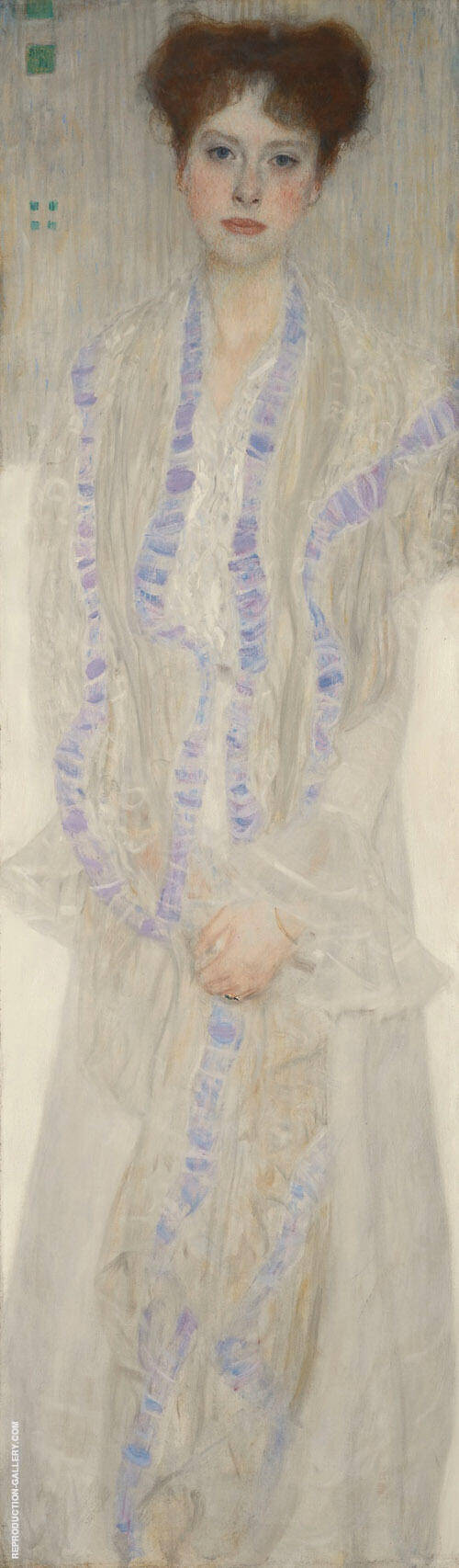 Portrait of Gertha Felssovanyi 1902 By Gustav Klimt