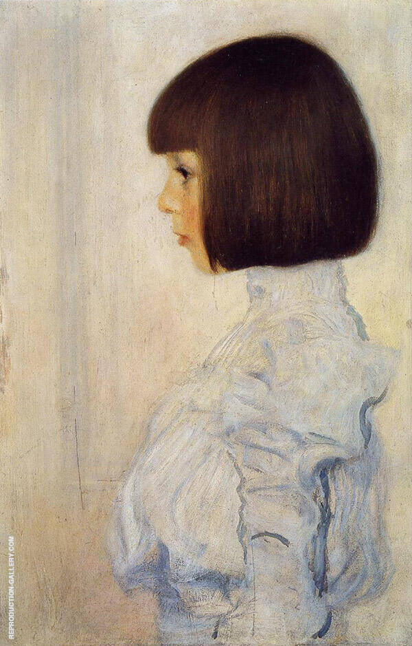 Portrait of Helene Klimt 1893 By Gustav Klimt