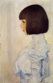 Portrait of Helene Klimt 1893 By Gustav Klimt