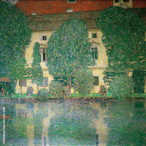 Schloss Kammer on Lake Attersee III 1910 By Gustav Klimt