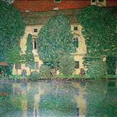 Schloss Kammer on Lake Attersee III 1910 By Gustav Klimt