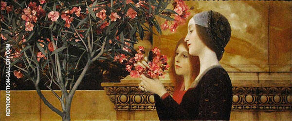 Two Girls with an Oleander c1890 By Gustav Klimt