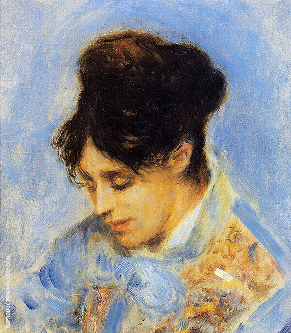 Portrait of Madame Claude Monet 1872 By Pierre Auguste Renoir