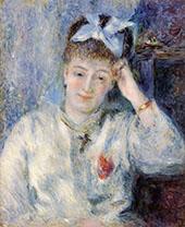 Portrait of Mademoiselle Marie Murer By Pierre Auguste Renoir