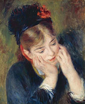 Reflexion 1877 By Pierre Auguste Renoir