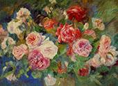 Roses 1885 By Pierre Auguste Renoir