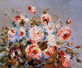 Roses from Wargemont 1885 By Pierre Auguste Renoir