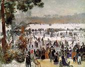 Skaters in The Boid de Boulogne 1868 By Pierre Auguste Renoir
