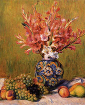 Still Life Flowers and Fruit 1889 By Pierre Auguste Renoir