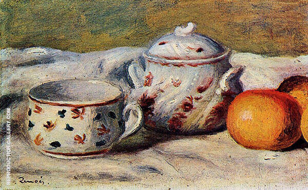 Still Life with Cup and Sugar Bowl 1904 By Pierre Auguste Renoir