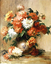 Still Life with Dahlias By Pierre Auguste Renoir