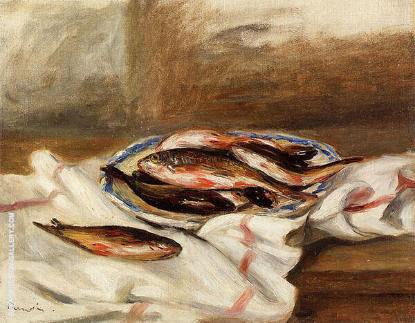 Still Life with Fish 1890 By Pierre Auguste Renoir