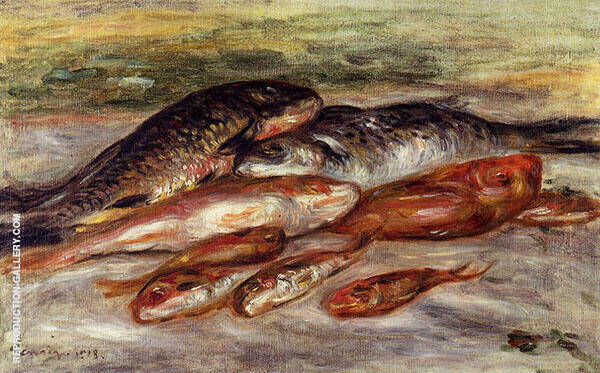 Still Life with Fish 1913 By Pierre Auguste Renoir