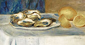 Still Life with Lemons and Oysters By Pierre Auguste Renoir