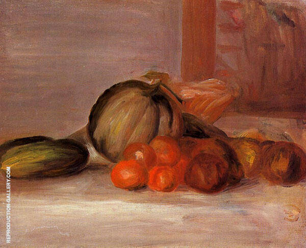 Still Life with Melon By Pierre Auguste Renoir